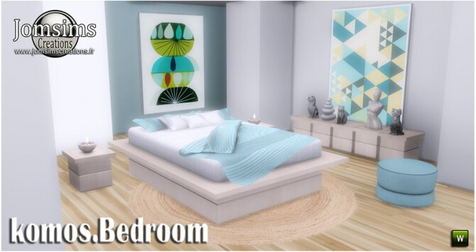 Komos bedroom at Jomsims Creations image 346 670x355 Sims 4 Updates