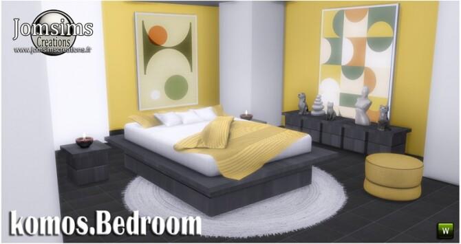 Komos bedroom at Jomsims Creations image 348 670x355 Sims 4 Updates