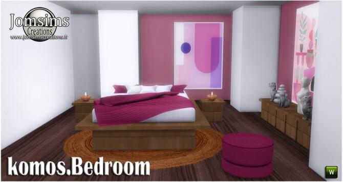 Komos bedroom at Jomsims Creations image 3511 670x355 Sims 4 Updates