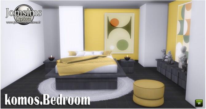 Komos bedroom at Jomsims Creations image 3521 670x355 Sims 4 Updates