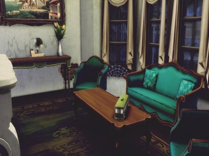 Haunted old manor NO CC by GenkaiHaretsu at TSR image 364 670x503 Sims 4 Updates