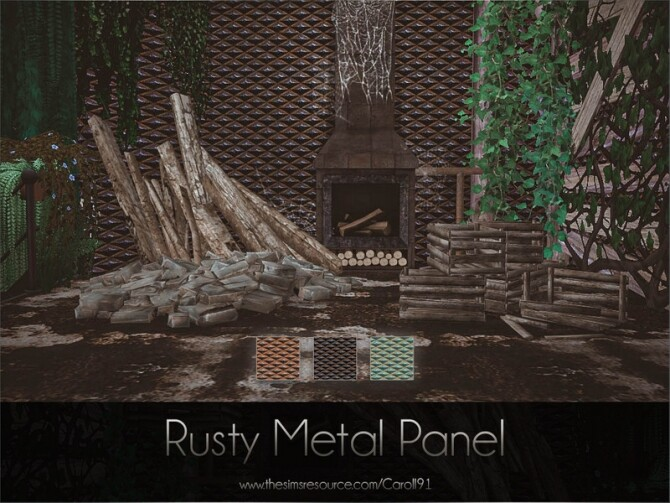 Rusty Metal Panel by Caroll91 at TSR image 365 670x503 Sims 4 Updates