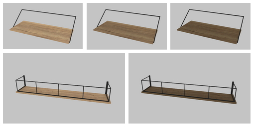 Sims 4 Rail Desk & Wood and Metal Floating Wall Shelf at Heurrs