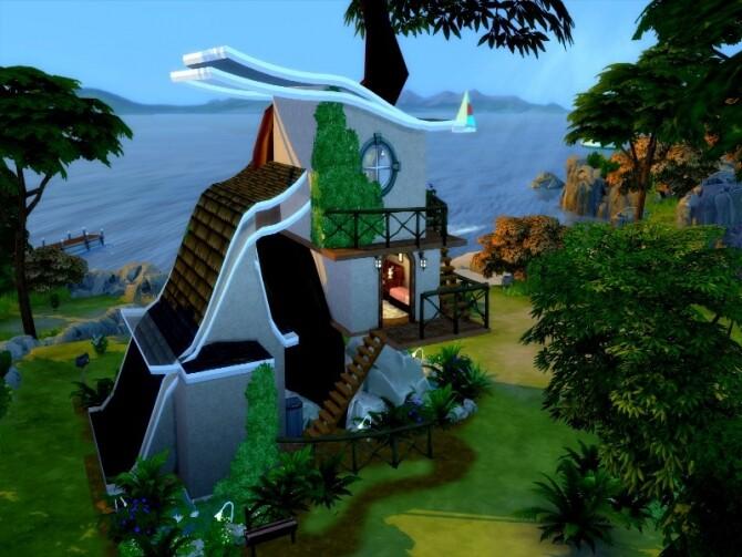 Sims 4 Elfish small arboreal elf house by GenkaiHaretsu at TSR