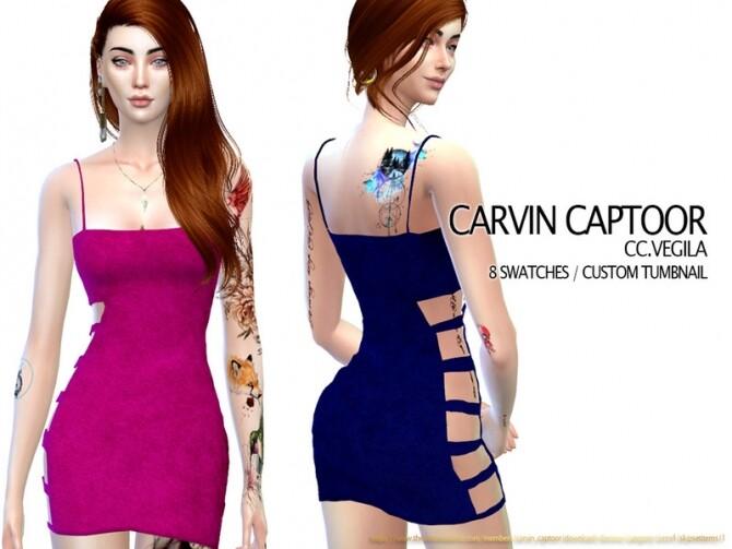 Sims 4 Vegila dress by carvin captoor at TSR