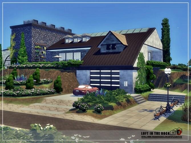 Sims 4 Loft in the rock by Danuta720 at TSR