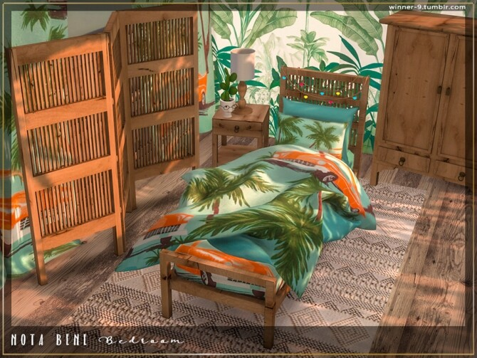 Nota bene Bedroom by Winner9 at TSR image 3722 670x503 Sims 4 Updates