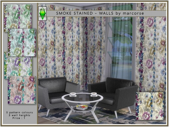 Sims 4 Smoke Stained Walls by marcorse at TSR