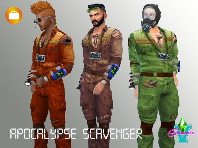 Sims 4 Apocalypse Scavenger Outfit by SimmieV at TSR