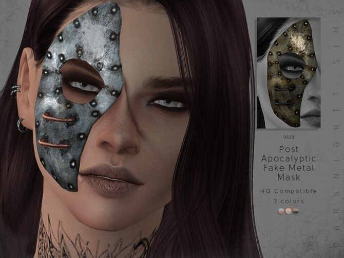 Sims 4 Post Apocalyptic Fake Metal Mask by DarkNighTt at TSR