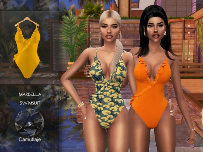 Marbella Swimsuit by Camuflaje at TSR image 3815 670x503 Sims 4 Updates