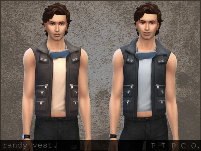 Randy vest by Pipco at TSR image 384 670x503 Sims 4 Updates