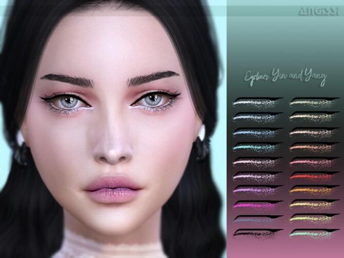 Sims 4 Yin and Yang eyeliner by ANGISSI at TSR