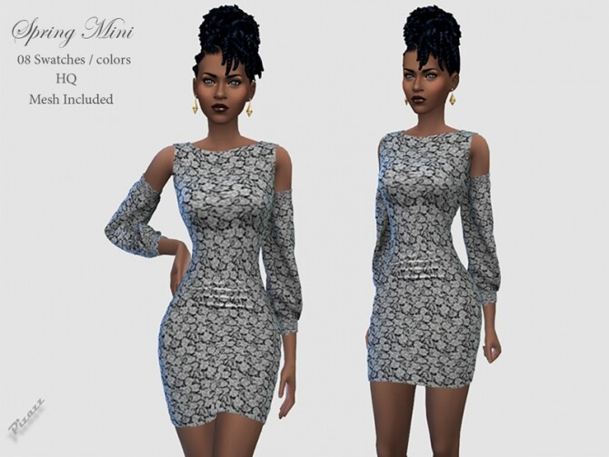 Spring Dress Mini by pizazz at TSR image 3915 670x503 Sims 4 Updates