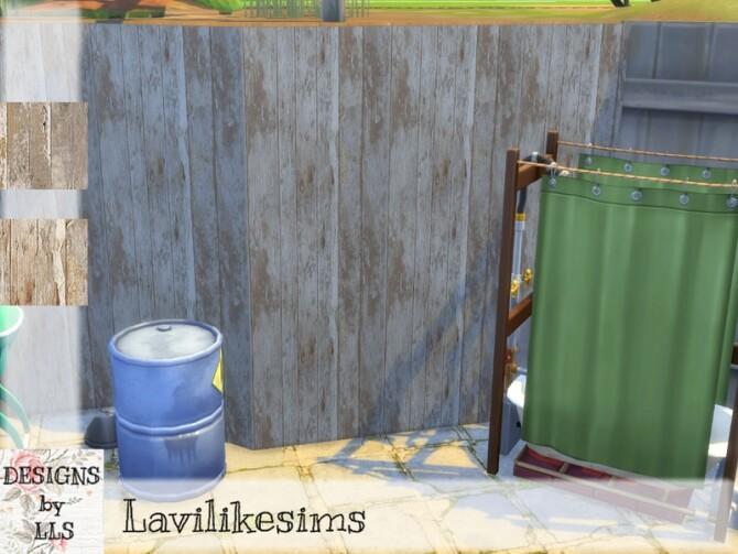 Sims 4 Cracked Wood Walls by lavilikesims at TSR