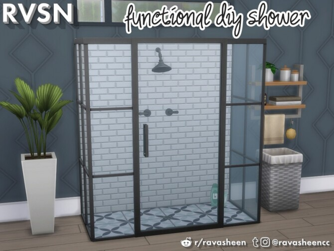 Keep It Clean DIY Shower Set by RAVASHEEN at TSR image 396 670x503 Sims 4 Updates