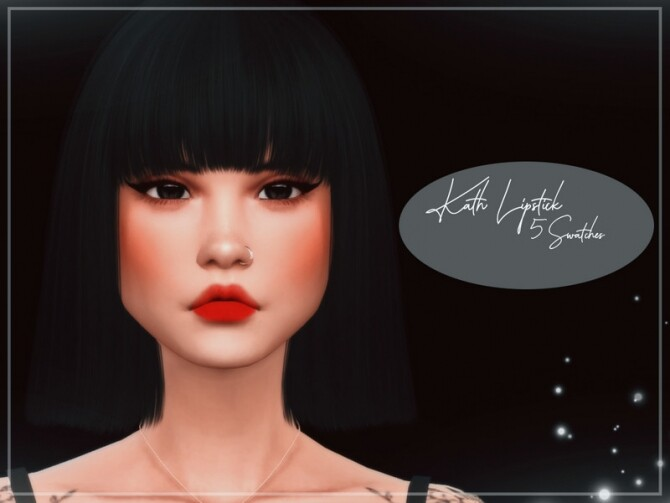Sims 4 Kath Lipstick by Reevaly at TSR