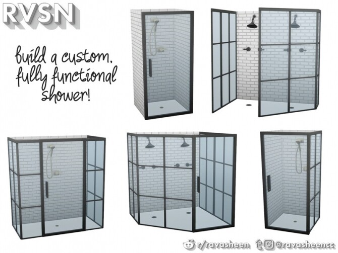 Keep It Clean DIY Shower Set by RAVASHEEN at TSR image 407 670x503 Sims 4 Updates
