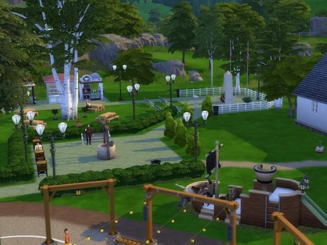 Sims 4 Skuleparken (The Schools Park) at KyriaT's Sims 4 World