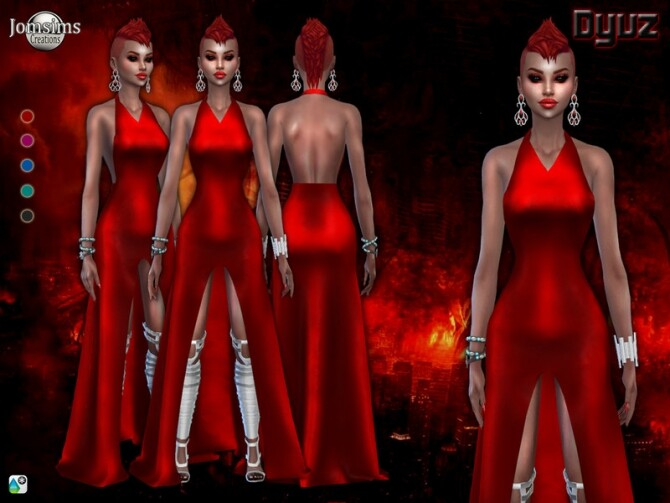 Dyuz dress by jomsims at TSR image 4215 670x503 Sims 4 Updates