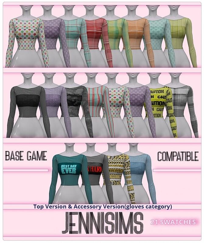 Sims 4 Top + Acc Version at Jenni Sims