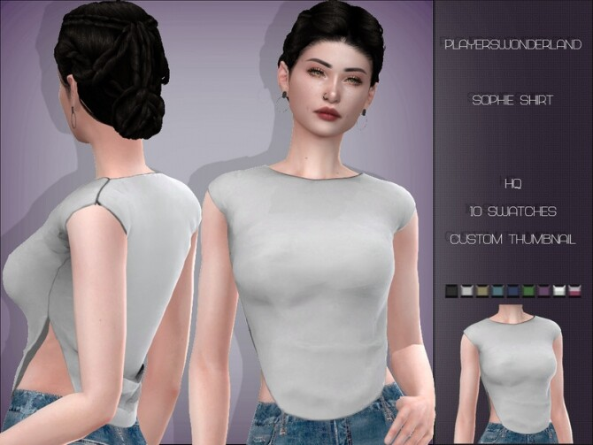 Sophie Shirt by PlayersWonderland at TSR image 423 670x503 Sims 4 Updates