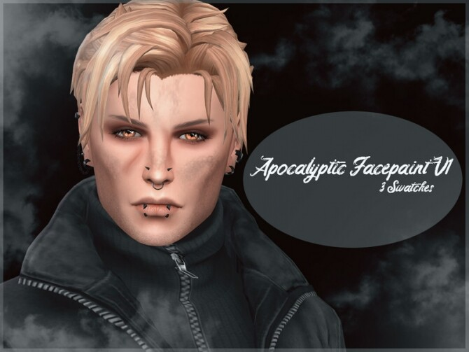 Apocalyptic Facepaint V1 by Reevaly at TSR image 424 670x503 Sims 4 Updates