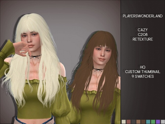 Cazy c208 Hair Retexture by PlayersWonderland at TSR image 430 670x503 Sims 4 Updates