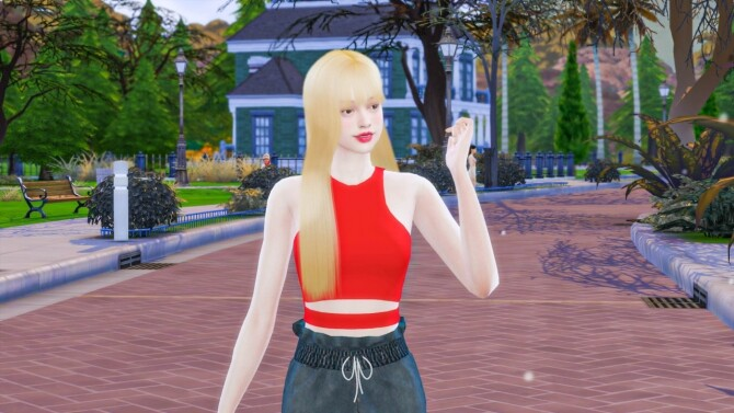 Sims 4 I Mustard You Top at THKM16
