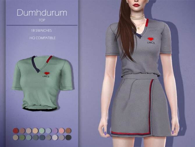 Sims 4 LMCS Dumhdurum Top by Lisaminicatsims at TSR