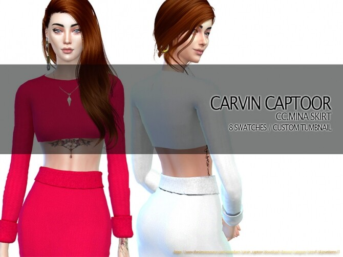 Mina Skirt by carvin captoor at TSR image 4317 670x503 Sims 4 Updates