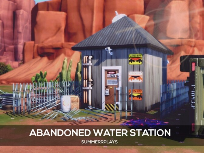 Apocalypse Abandoned Water Station by Summerr Plays at TSR image 433 670x503 Sims 4 Updates