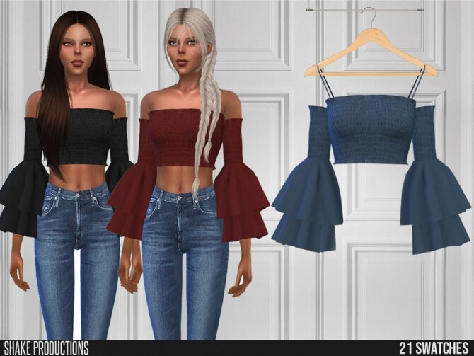 Sims 4 440 Blouse by ShakeProductions at TSR