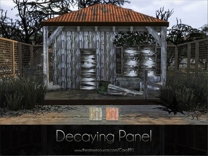 Sims 4 Decaying Panel by Caroll91 at TSR