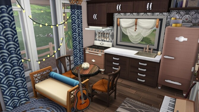 Sims 4 MUSICIAN'S TINY HOUSE at Aveline Sims