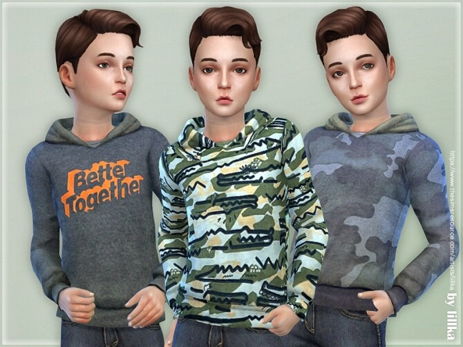 Sims 4 Hoodie for Boys P19 by lillka at TSR