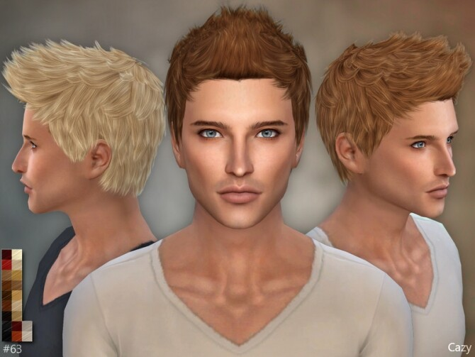 Sims 4 Male Hairstyle #63 by Cazy at TSR
