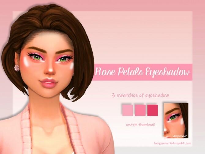 Sims 4 Rose Petals Eyeshadow by LadySimmer94 at TSR