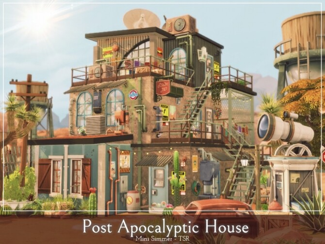 Post Apocalyptic House by Mini Simmer at TSR image 455 670x503 Sims 4 Updates
