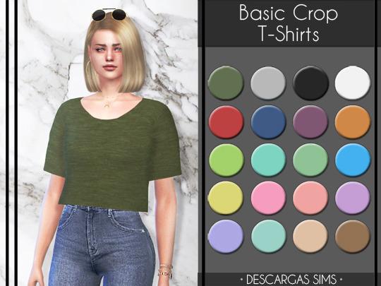 Basic Crop T Shirts at Descargas Sims image 4561 Sims 4 Updates
