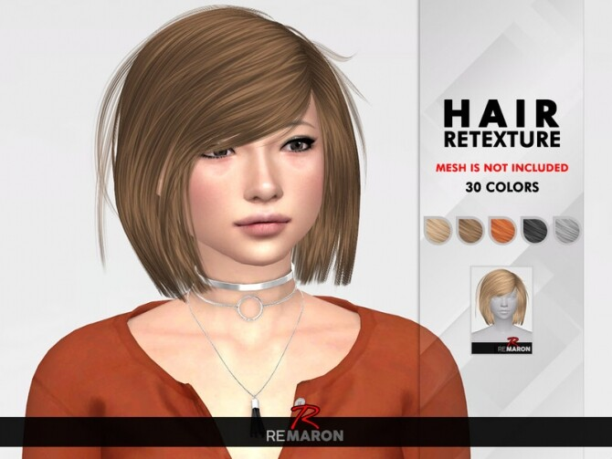 Sims 4 Katuma Hair Retexture by remaron at TSR