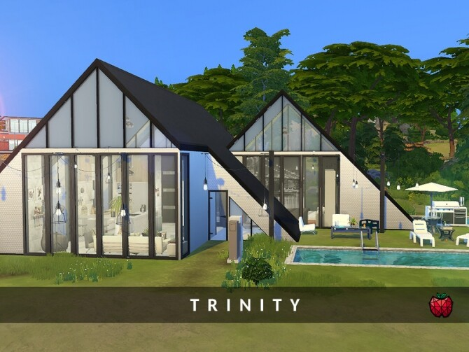 Sims 4 Trinity small home by melapples at TSR