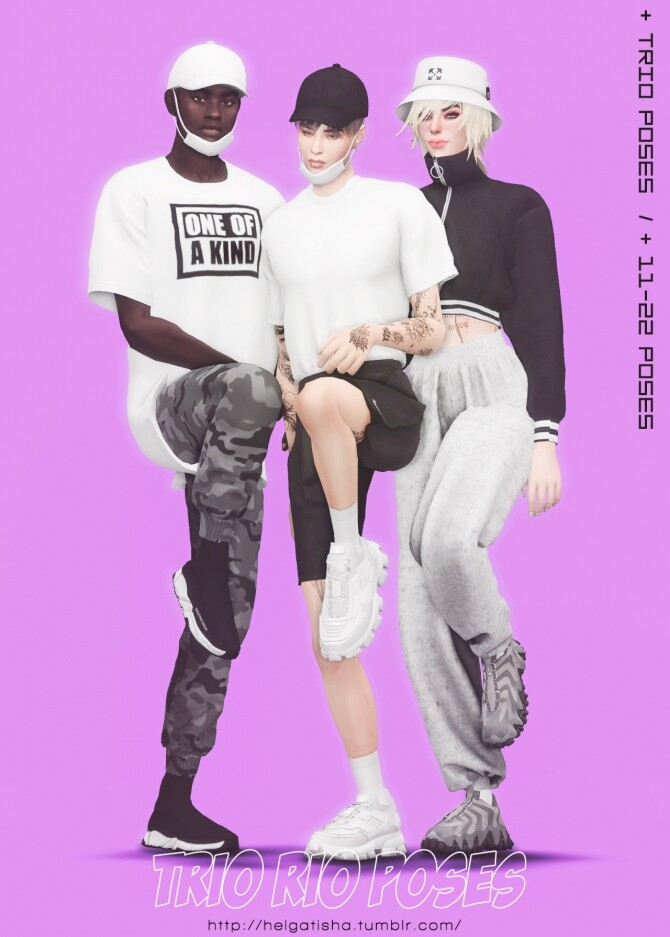 Trio rio poses at Helga Tisha image 4615 670x937 Sims 4 Updates