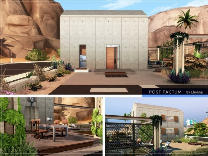 Sims 4 Post Factum small house by Lhonna at TSR