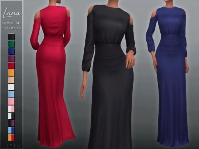 Sims 4 Lana Dress by Sifix at TSR
