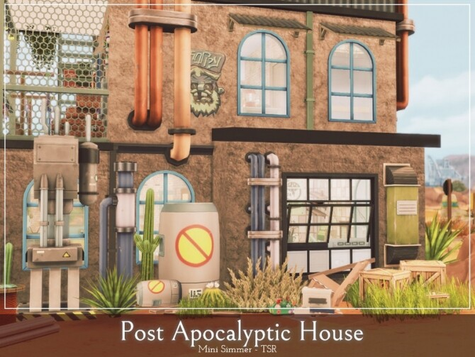 Post Apocalyptic House by Mini Simmer at TSR image 465 670x503 Sims 4 Updates
