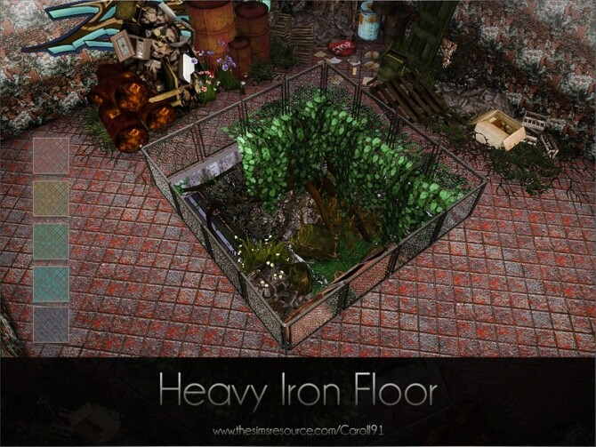 Sims 4 Heavy Iron Floor by Caroll91 at TSR
