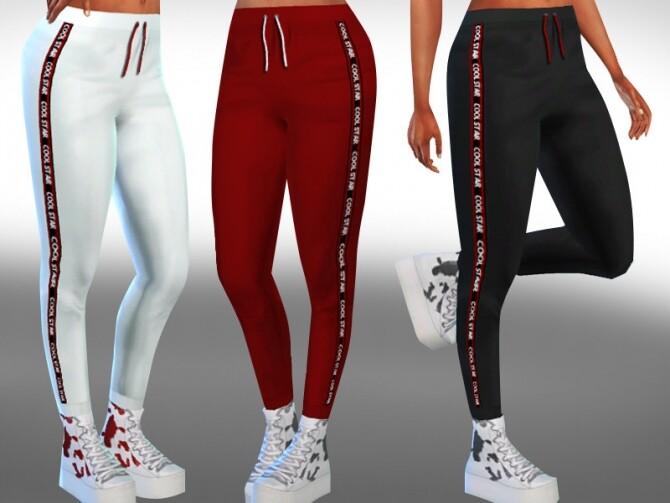 Sims 4 Female Cool Star Jogging Pants by Saliwa at TSR