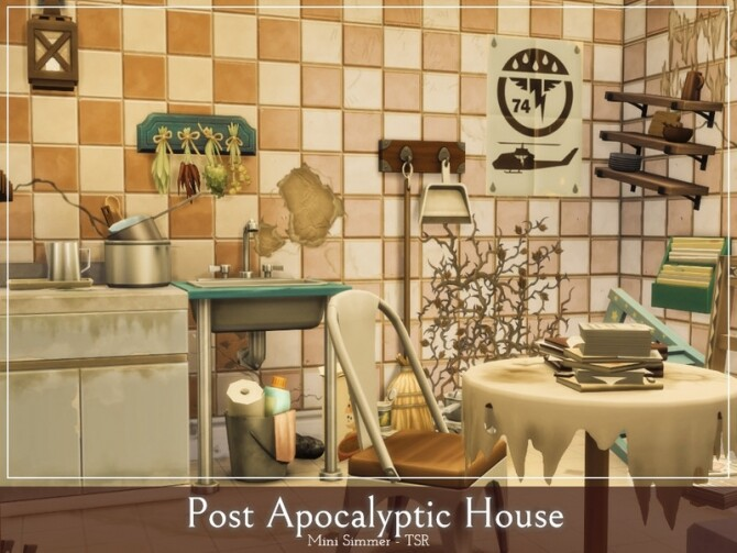 Post Apocalyptic House by Mini Simmer at TSR image 475 670x503 Sims 4 Updates