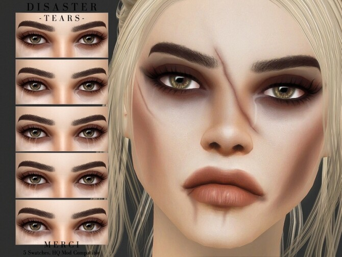 Sims 4 Disaster Tears by Merci at TSR